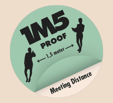 1M5 Meeting Distance label